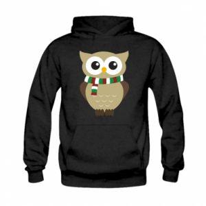 Kid's hoodie Owl in a scarf