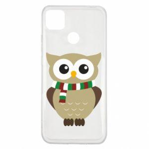 Xiaomi Redmi 9c Case Owl in a scarf