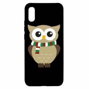 Xiaomi Redmi 9a Case Owl in a scarf