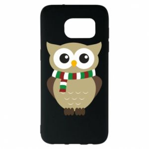 Samsung S7 EDGE Case Owl in a scarf