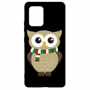 Samsung S10 Lite Case Owl in a scarf