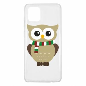 Samsung Note 10 Lite Case Owl in a scarf