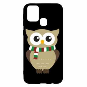 Samsung M31 Case Owl in a scarf