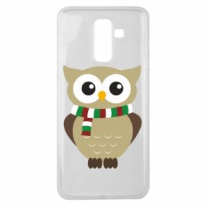 Samsung J8 2018 Case Owl in a scarf