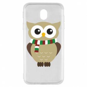 Samsung J7 2017 Case Owl in a scarf