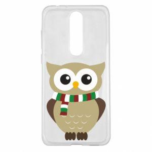 Nokia 5.1 Plus Case Owl in a scarf