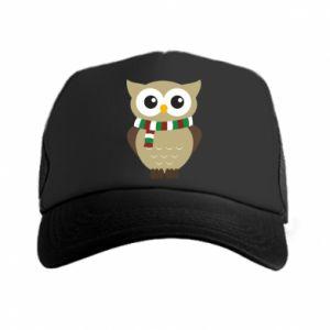 Trucker hat Owl in a scarf