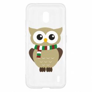 Nokia 2.2 Case Owl in a scarf