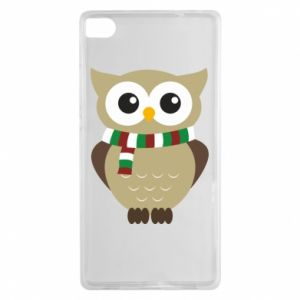 Huawei P8 Case Owl in a scarf