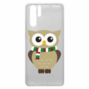 Huawei P30 Pro Case Owl in a scarf