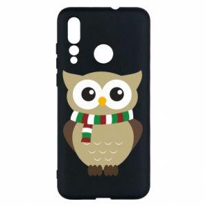 Huawei Nova 4 Case Owl in a scarf