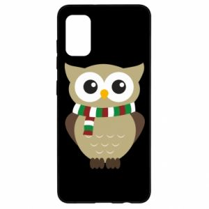 Samsung A41 Case Owl in a scarf
