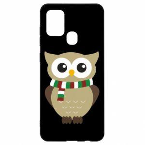 Samsung A21s Case Owl in a scarf