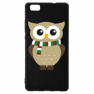 Huawei P8 Lite Case Owl in a scarf
