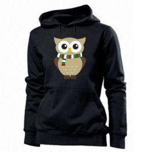 Women's hoodies Owl in a scarf