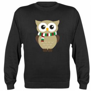 Sweatshirt Owl in a scarf