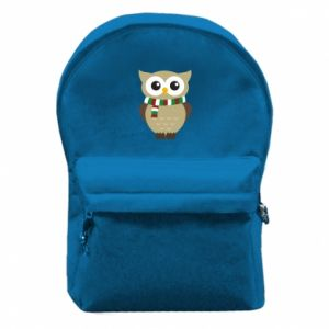 Backpack with front pocket Owl in a scarf