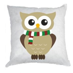Pillow Owl in a scarf