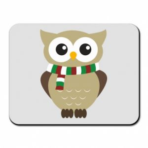 Mouse pad Owl in a scarf