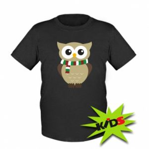 Kids T-shirt Owl in a scarf