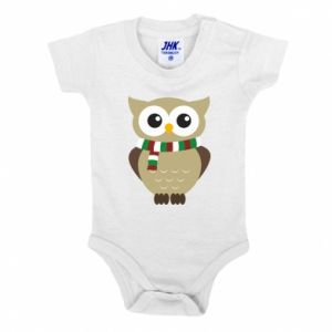 Baby bodysuit Owl in a scarf