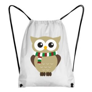 Backpack-bag Owl in a scarf