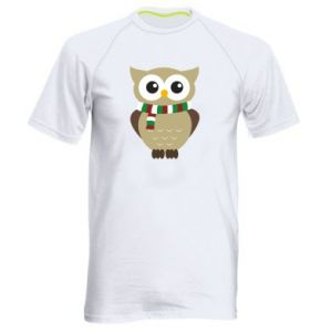 Men's sports t-shirt Owl in a scarf