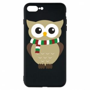 Phone case for iPhone 7 Plus Owl in a scarf