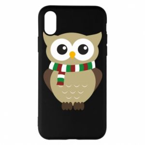 Phone case for iPhone X/Xs Owl in a scarf