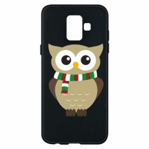 Phone case for Samsung A6 2018 Owl in a scarf