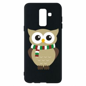 Phone case for Samsung A6+ 2018 Owl in a scarf
