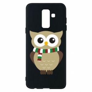 Samsung A6+ 2018 Case Owl in a scarf