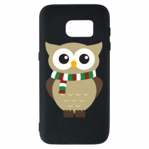 Samsung S7 Case Owl in a scarf
