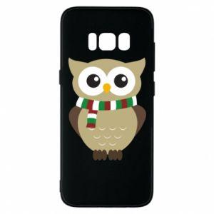 Samsung S8 Case Owl in a scarf