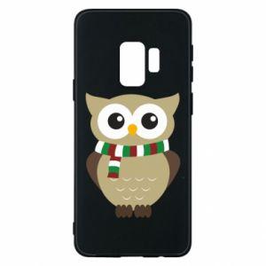 Samsung S9 Case Owl in a scarf