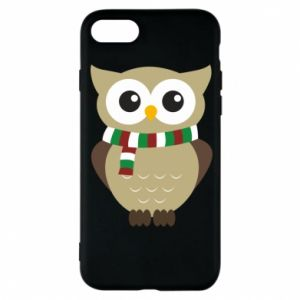 Phone case for iPhone 8 Owl in a scarf