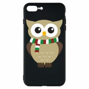 Phone case for iPhone 8 Plus Owl in a scarf