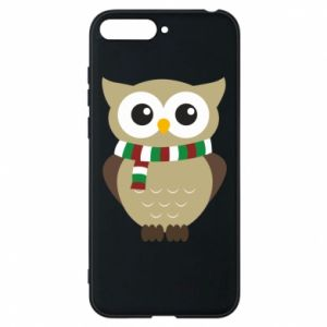 Phone case for Huawei Y6 2018 Owl in a scarf