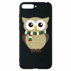 Huawei Y6 2018 Case Owl in a scarf