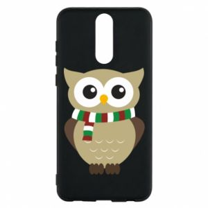 Huawei Mate 10 Lite Case Owl in a scarf