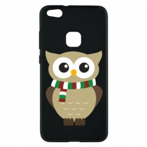 Phone case for Huawei P10 Lite Owl in a scarf