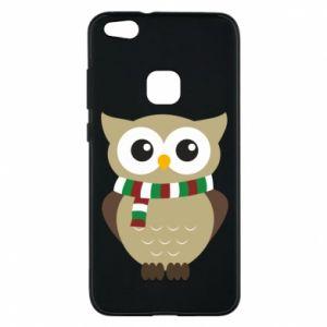 Huawei P10 Lite Case Owl in a scarf