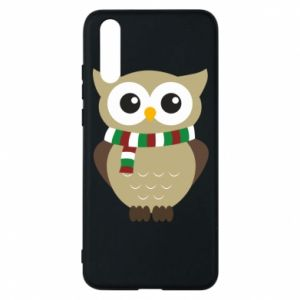 Phone case for Huawei P20 Owl in a scarf