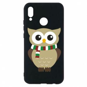 Huawei P20 Lite Case Owl in a scarf