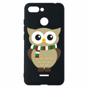 Phone case for Xiaomi Redmi 6 Owl in a scarf