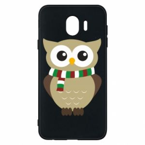 Phone case for Samsung J4 Owl in a scarf