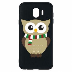 Samsung J4 Case Owl in a scarf