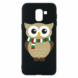 Phone case for Samsung J6 Owl in a scarf