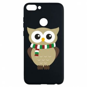 Phone case for Huawei P Smart Owl in a scarf