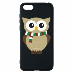 Phone case for Huawei Y5 2018 Owl in a scarf